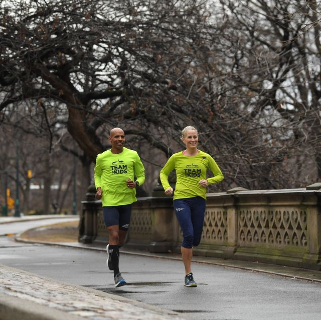 meb keflezighi runs the 2018 nyrr virtual for the kids 5k benefiting rising new york road runners rnyrr