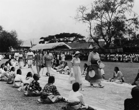 Visit Of Duke Of Edinburgh And Queen Elisabeth In Tonga On December 29Th 1953