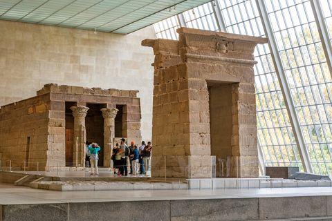 Visita virtual museos. Metropolitano de Nueva York. Templo egipcio.