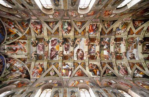 Visita virtual museos. Vaticano Capilla Sixtina, frescos de Miguel Ángel.
