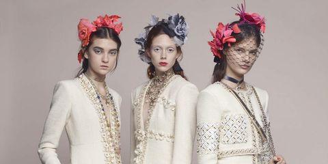 Face, Head, Hairstyle, Sleeve, Hair accessory, Red, Style, Headpiece, Headgear, Fashion accessory,