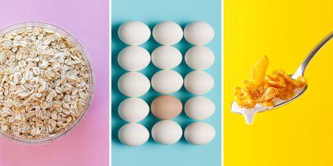 Food, Cuisine, Yellow, Snack, Dish, Ingredient, Vegetarian food, Recipe, Breakfast cereal, Indian cuisine,