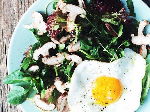 Food, Ingredient, Egg yolk, Breakfast, Egg white, Dish, Recipe, Cuisine, Salad, Dishware,