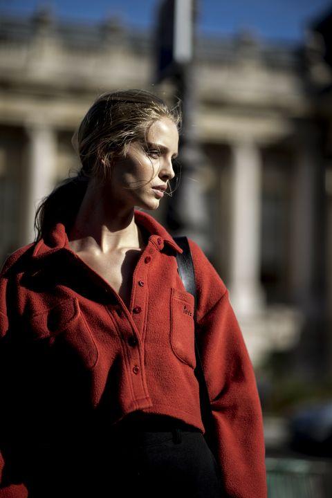 Sleeve, Collar, Street fashion, Button, Portrait photography, Portrait, Fashion model, Photo shoot, Thinking,
