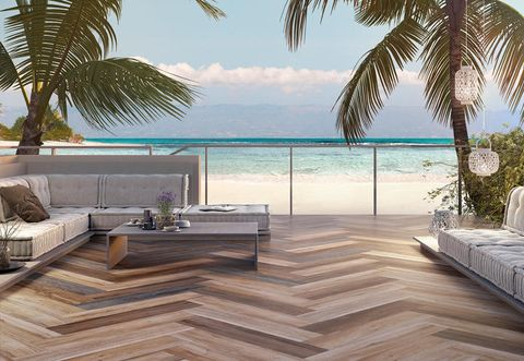 Coastal and oceanic landforms, Furniture, Couch, Resort, Ocean, Outdoor furniture, Arecales, Woody plant, Real estate, Tropics,