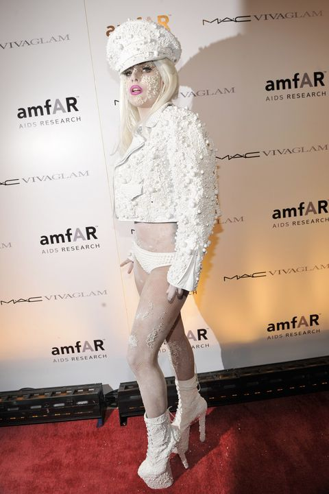 M.A.C Viva Glam Spokespeople Lady Gaga And Cyndi Lauper Attend amfAR New York Gala