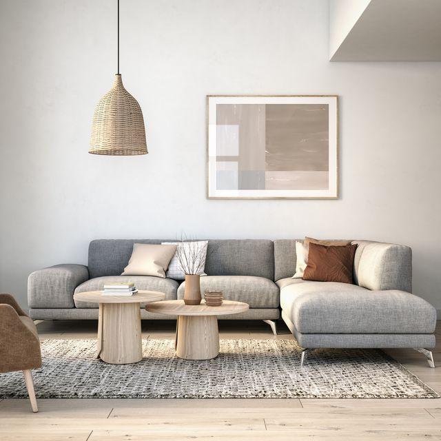 salón escandinavo de una vivienda a la venta