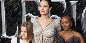 Vivienne Jolie Pitt, Angelina Jolie, and Zahara Jolie Pitt
