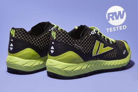 Shoe, Footwear, Outdoor shoe, Walking shoe, Green, Black, Sneakers, Yellow, Athletic shoe, Running shoe,