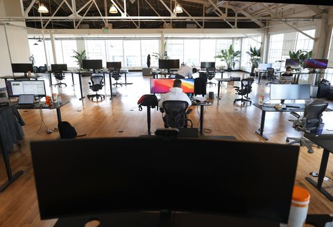 employees of san francisco startup company head back to work in their offices
