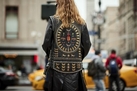 Street fashion, Fashion, Clothing, Street, Yellow, Snapshot, Outerwear, Urban area, Infrastructure, Human,