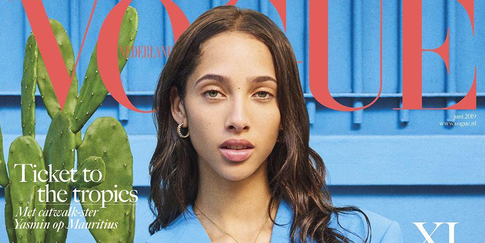 Yasmin Wijnaldum op Vogue Nederland juni 2019