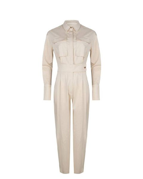 Clothing, Beige, Sleeve, Outerwear, Suit, Trousers, Dress, Formal wear, Collar, Trench coat,