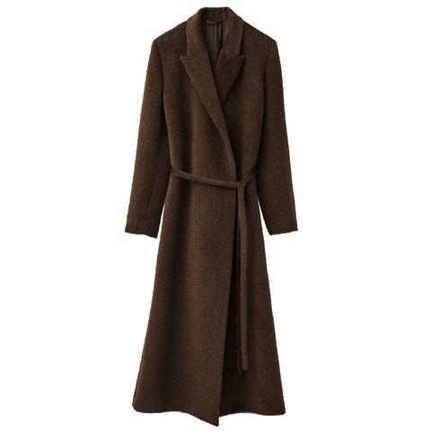 totême double breasted peak lapel tie waist coat