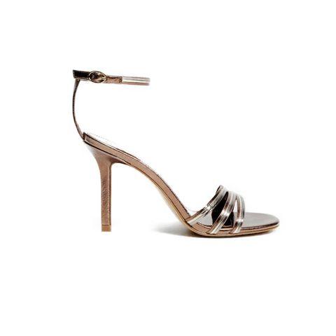metallic sandalen met bandjes