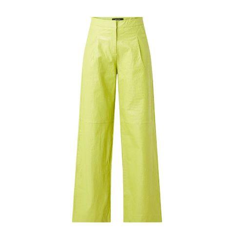 daily paper jalla high waist wide fit pantalon van imitatieleer