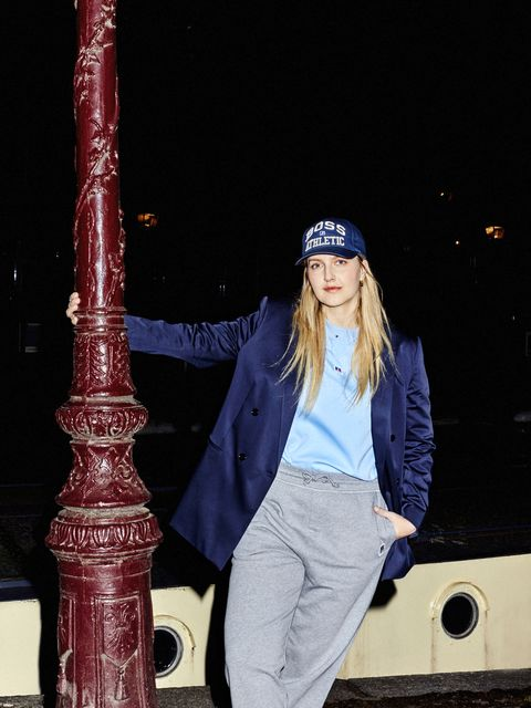 styling tips vogue editors boss x russel athletic