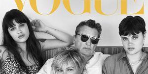 Rockfamilie Hay op de cover van Vogue Living's maart/april 2020 nummer.