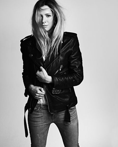 White, Black, Hair, Clothing, Leather, Jacket, Model, Beauty, Black-and-white, Photo shoot,