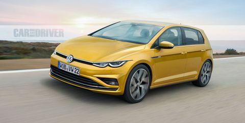 2021 Volkswagen Golf Mk8 rendering