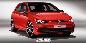 VW Golf GTI render