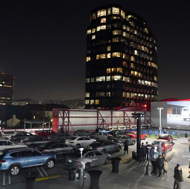 los angeles, california   november 21 volkswagen vehicles on display during the fourth annual volkswagen drive in movie with shay mitchell at the petersen automotive museum on november 21, 2019 in los angeles, california photo by erik voakegetty images for volkswagen