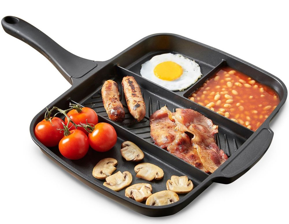 VonShef Multi Section Frying Pan