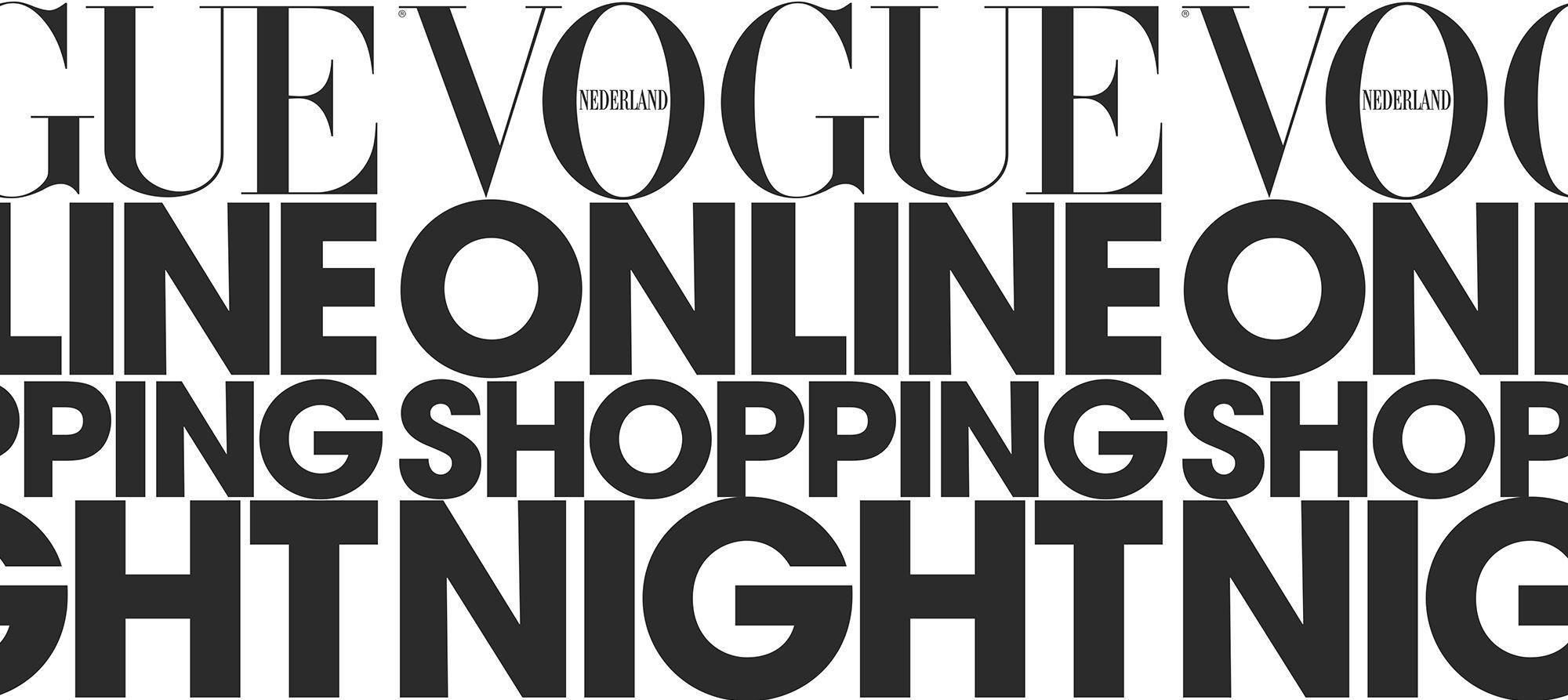 vogue online shopping night 31 oktober 2018
