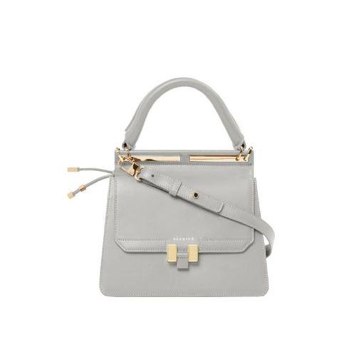 Handbag, Bag, White, Fashion accessory, Leather, Product, Kelly bag, Shoulder bag, Beige, Material property,