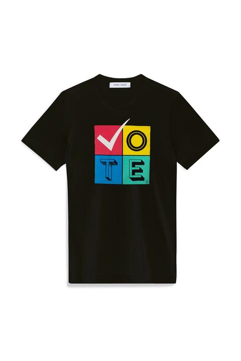 vote, merch, voter registration, voting, presidential election, election, 2020, joe biden, donald trump, democrat, republication, dnc, rnc, prabal gurung, vote tee, graphic tee, graphic t shirt, designer