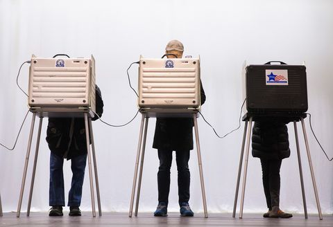 Voters Go To The Polls In Illinois Presidential Primary