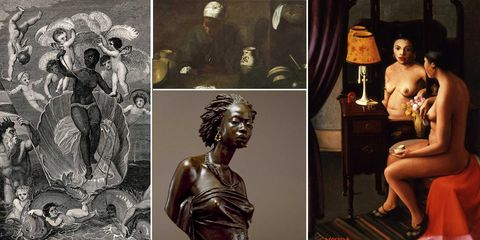 archibald j motely jr, brown girl after the bath, african venus, charles henri joseph cordier, the kitchen maid, diego rodríguez de silva y velazquez, the voyage of the sable venus from angola to the west indies, w grainger
