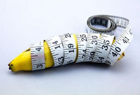 Tape measure, Yellow, Banana, Banana family, Font, Plant,