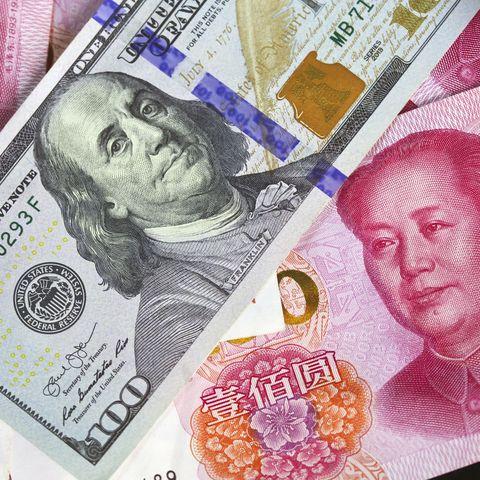 USD vs RMB (US dollar and CCP Renminbi)