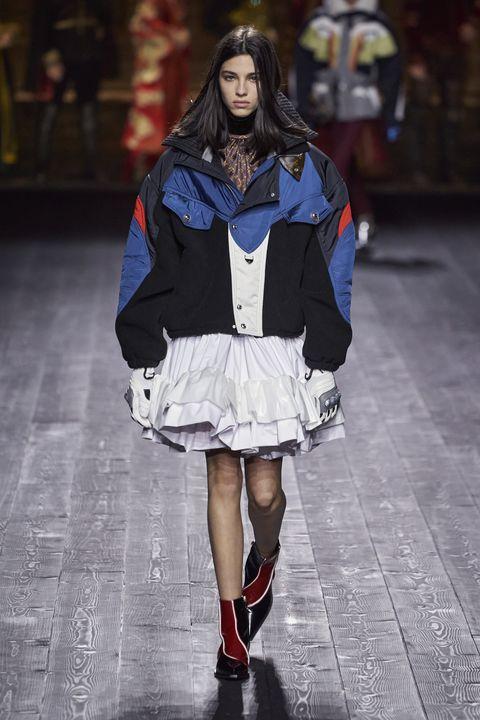 Fashion model, Fashion, Runway, Fashion show, Clothing, Street fashion, Human, Public event, Footwear, Outerwear,