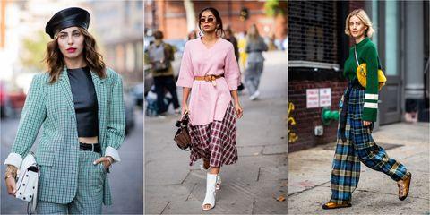Plaid, Clothing, Street fashion, Tartan, Fashion, Pattern, Design, Footwear, Textile, Outerwear,