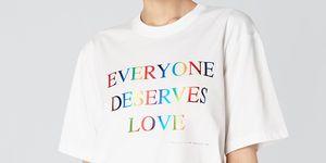 pride fashion -Victoria victoria beckham everyone deserves love t-shirt