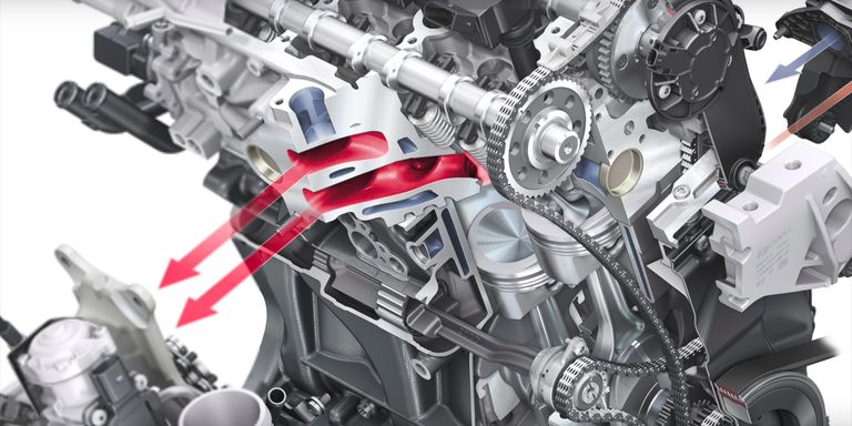 Why volkswagen uses a water cooled exhaust manifold