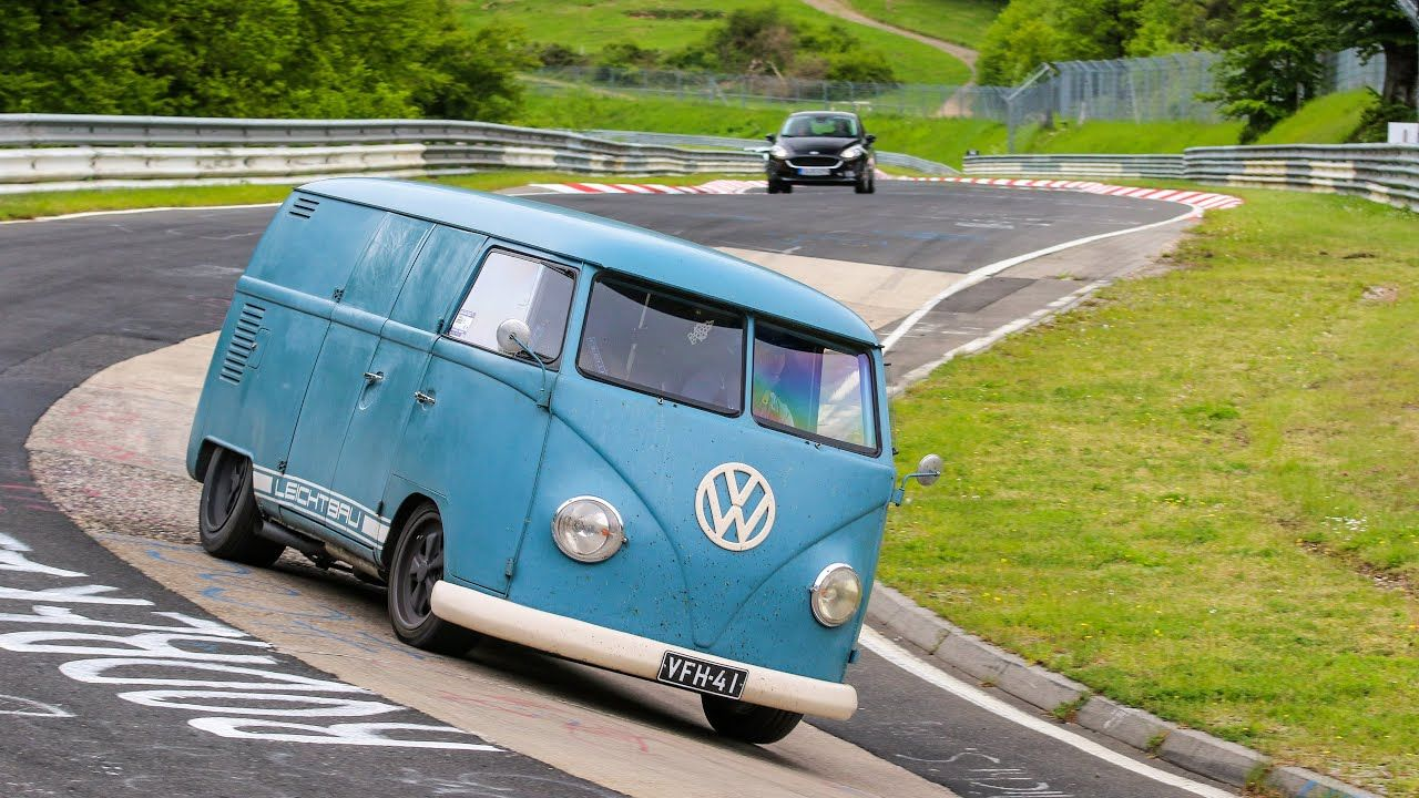 Porsche Flat,Six,Swapped VW Bus Laps the Nurburgring on Video