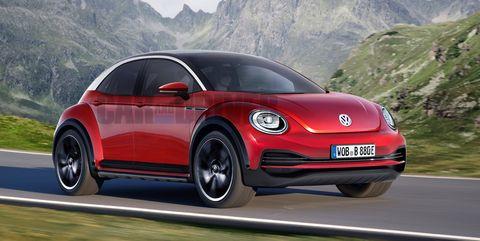 Land vehicle, Vehicle, Car, Motor vehicle, Volkswagen new beetle, Automotive design, City car, Volkswagen, Subcompact car, Sky,