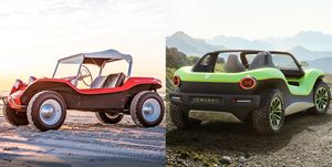 Meyers Manx and Volkswagen ID Buggy side by side