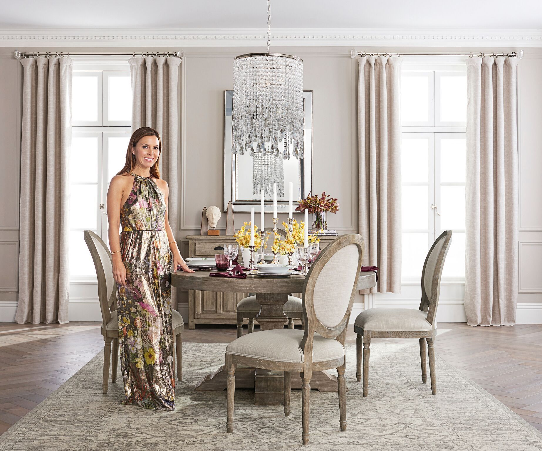 Celebrity Bridal Designer Monique Lhuillier Just Launched a Gorgeous Pottery Barn Collection  sc 1 st  Elle Decor & Pottery Barn Debuts Monique Lhuillier Home Collection - Monique ...