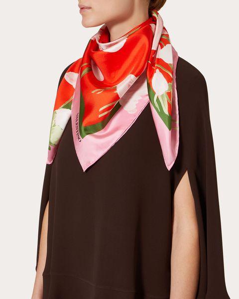 valentino silk scarf pink fashion designer