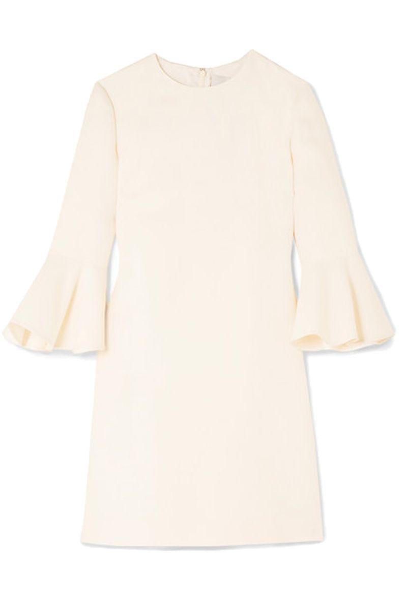 Valentino Wool and silk-blend crepe mini dress