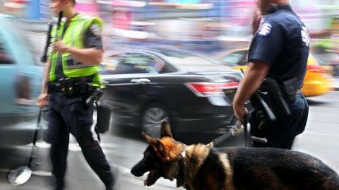 politie-auto-huis-doorzoeken