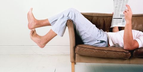 Leg, Furniture, Footwear, Sitting, Joint, Comfort, Human leg, Arm, Thigh, Room,