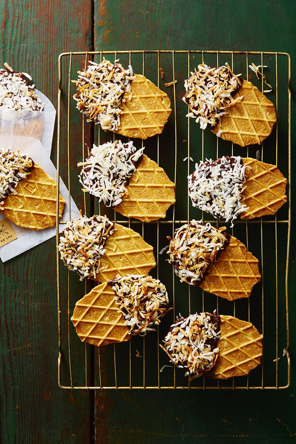 Homemade food gifts no-bake waffle dippers