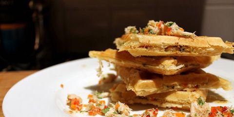 Crab Waffles