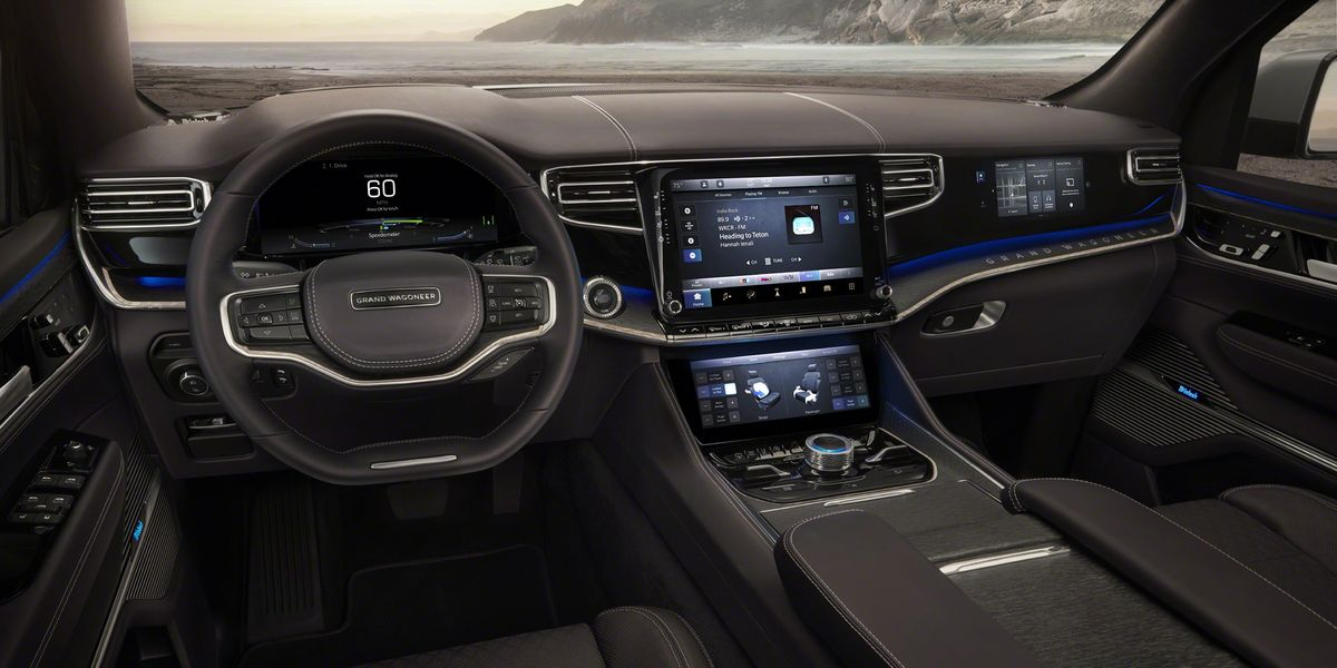 Look Inside the New Jeep Grand Wagoneer Concept Vehicle