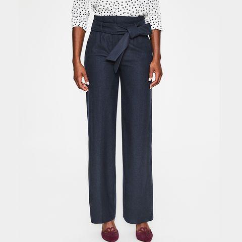 boden wide leg high waisted trousers